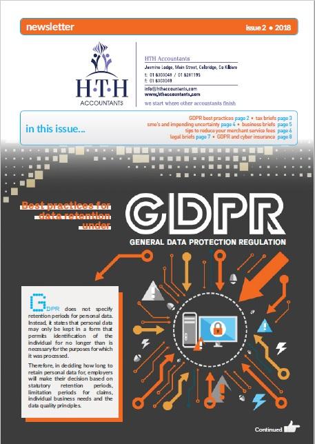 Best practices for date retention under GDPR
