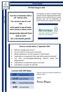 VAT Rate Changes 2020