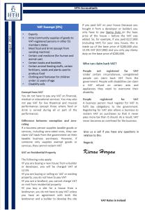 VAT Rates 2